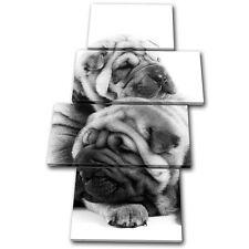 Animals Pug Puppies Dog MULTI TOILE murale ART Photo Print
