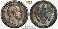 S23 German State Prussia 1866-A Thaler PCGS AU Detail