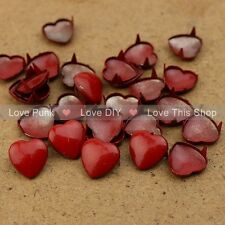 150pcs 12mm Red Heart DIY Rivet Spike Nickel Free Shipping Dropshipping