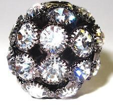 Rhinestone Ball Bead Round Black Round Medium 22mm dia  DIY Jewelry Making