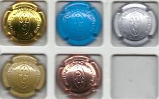 capsules de champagne jean louis chauré estampé  ref lambert N° 28-29-30-31-32