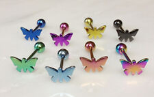 T#90 - 8pc Titanium Butterfly Tongue Rings Tounge Wholesale Body Jewelry