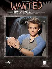 Wanted Sheet Music Piano Vocal Hunter Hayes NEW 000111935