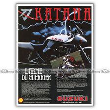 PUB SUZUKI KATANA GSX 650 S & GSX 1100 S - Ad / Publicité Moto de 1982
