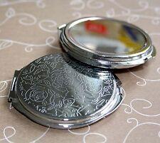 Pocket Mirror Resin Cameo base setting - 4 pcs