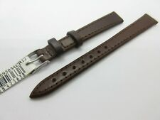 MORELLATO BROWN  LEATHER 12mm WATCH STRAP BAND SILVER BUCKLE