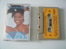 DIONNE WARWICK LOVE AT FIRST SIGHT CASSETTE TAPE 1977 ORANGE LABEL WARNER BROS