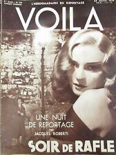 REPORTAGES PHOTOS VOILA 1938 PROSTITUTION RAFLE  SECRET MAGICIEN DANSE TABARIN
