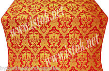 Bryansk religious church liturgical vestments red/gold metal brocade FA-4812s-RD