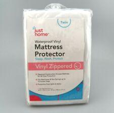 Zippered Vinyl Mattress Protector Twin Waterproof Just Home Brand New