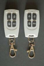 2 x Remote Control Keyfob For G10A GSM Wireless Alarm And Some 433mhz Alarms.