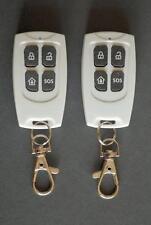2 x Contrôle à Distance Keyfob pour G10A GSM sans fil alarme et certains 433 MHz alarmes.