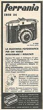 W8754 Macchina fotografica FERRANIA Ibis 34 - Pubblicità del 1958 - Vintage ad