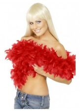 RED Feather Boa deluxe 1.82m 80g Gatsby burlesque costume accessory 20s 1920s