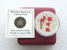 5$ Canada Maple leaf colorisée 2004 1Oz Argent