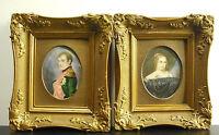 Pair of Miniatures XIX ° Napoleon Bonaparte and Josephine of Beauharnais?