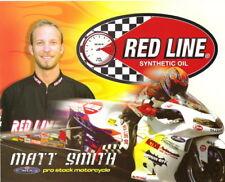 2005 Matt Smith Red Line Oil Suzuki Pro Stock Motorcycle NHRA postcard