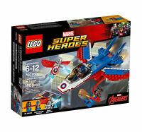 Lego Marvel Super Heroes Pilot 60150 CAPTAIN AMERICA JET PURSUIT Ms. Marvel NEW