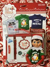 FANS OF SANTA 3 T-Shirt Pack Suitcase Elf on the Shelf Graphic Tees 2015 Target