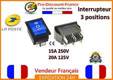 1 interrupteur avec voyant à bascule 15A 250V - 20A 125V 3 positions 6 pins bleu