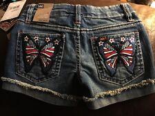 Lee Girls Size 4 shorts, Premium denim jeans, Butterfly Pockets