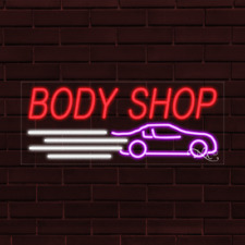 Brand New Body Shop Withlogo 32x13x1 Inch Led Flex Indoor Sign 30511