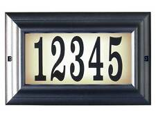 Edgewood, Ltl-1301-Pw, Large lighted address sign in Pewter