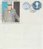 9 NOV 1974 WINSTON CHURCHILL SOUVENIR SHEET SOUTHAMPTON STAMP FAIR SOUTHAMPTON