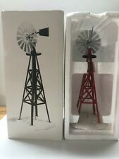 "SNOW VILLAGE ""WINDMILL"" # 5456-9 HAND PAINTED METAL & CERAMIC ACCESSORY"