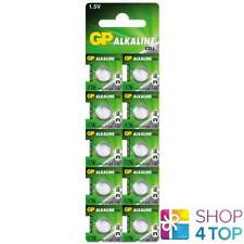 10 GP ALKALINE CELL LR44 A76 BATTERIES G13 1.5V COIN CELL BUTTON EXP 2021 NEW