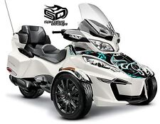 "Can Am Spyder RT RTS graphic wrap decal package ""Perennial"" - HALF KIT"