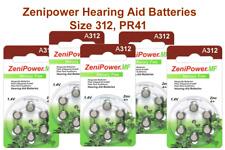 Zenipower Hearing Aids Aid Batteries Size 312 (pack 30 pcs) Fresh Expire 2020