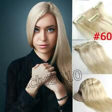 #60 Light Blonde Clip in on Human Hair Extensions 100% Human Hair 70g 15inch