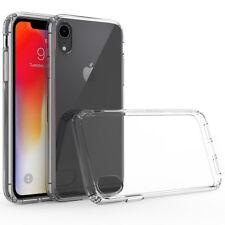 For iphone X Xs /Max /XR /i7 i8+Plus Clear Hard Back Bumper Cover TPU Phone Case
