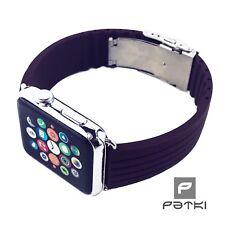 #13 Bracciale in silicone per Apple Watch (42mm) serie 1/2/3 Marrone