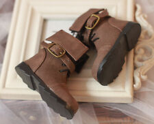1/4 BJD Shoes MSD Dollfie Dream Brown Nubuck Leather BOOTS Mid DOD LUTS Soom AOD