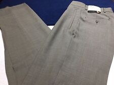 GEOFFREY BEENE CLASSIC DRESS TROUSERS PANTS PLEATED FRONT TAUPE 38R 32W NWT