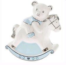 Leonardo BABY Jewel Ceramic Blue Rocking Horse Money Box for Baby Boy New Gift