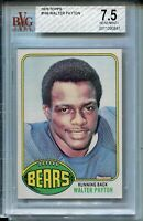1976 Topps Football #148 Walter Payton Rookie Card RC Graded BVG Nr MINT+ 7.5