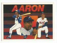 HANK AARON 1991 Upper Deck Baseball Heroes card #27 Atlanta Braves NR MT