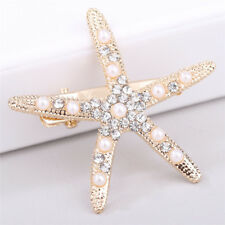 Fashion Hot Lady Girl Beach Wedding Natural Starfish Sea Star Hair Clip HairpinI
