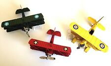 Rustic Vintage Airplane Collection Aviation Tabletop Decor(Set of 3 )