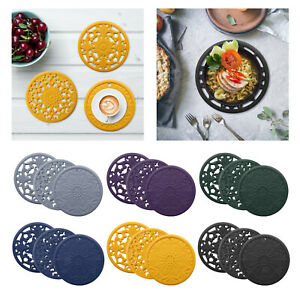 3 Pack of Round Heat-insulated Hot Pads Countertop Dish Cup Pad Trivet Gift
