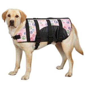 Guardian Gear Dog Life Preserver Jacket Vest Puppy NEW Pink Peace Blue Dots 2 Sz
