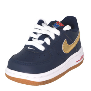 Nike Air Force One USA TD 314194 413 Toddler Shoes Blue Sneakers Leather SZ 4
