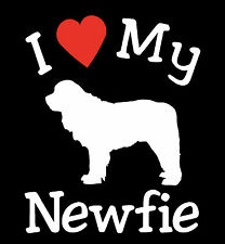 New I Love My Dog Newfie Pet Car Decals Stickers Gift Newfoundland