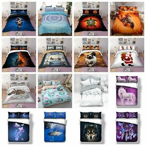 Animal Quilt Cover Doona Duvet Covers Single Queen King Size Bed Pillowcases New