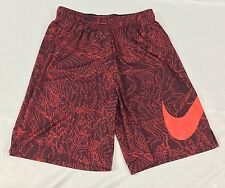 Nike Men'S Athletic Dri-Fit Basketball Shorts 904627 Red Print Size M
