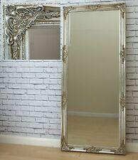 Florence Large Silver Vintage Leaner Full Length floor Wall Mirror 163cm x 72cm