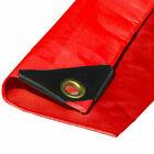 Heavy Duty Red Canopy Top Premium Sun Shade Tarp